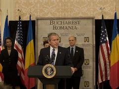 President Bush in Bucharest, Romania