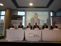 """Insuring the Poor"" panel at the Global Economic Symposium. Photo by Artur Kacprzak"
