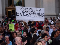 Protesters at Occupy Wall Street