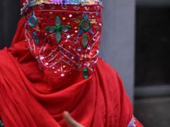 An Afghan girl in New Delhi, India