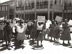 National Women's Day protest at the University of Lesotho