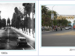 Norodom Boulevard in 1960s compared to 2011