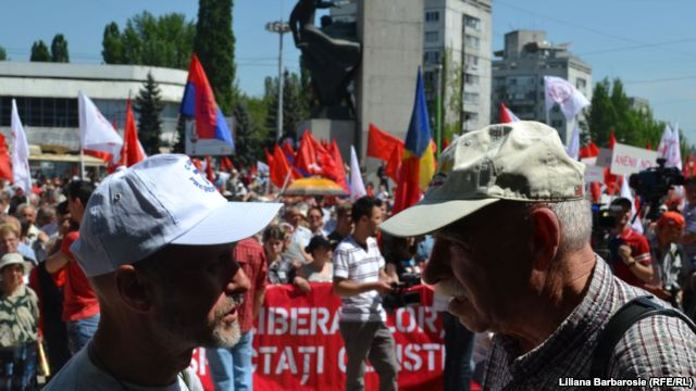 Street demonstration in Chișinău