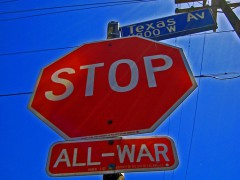 War-Free Stop Sign by gnahcgem on Flickr (CC BY 2.0)