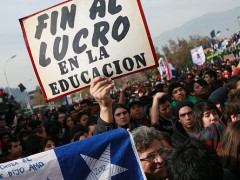 Marcha estudiantil en Santiago