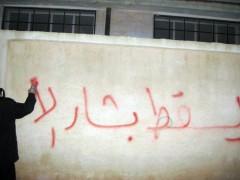 Anti Assad Graffiti on Walls
