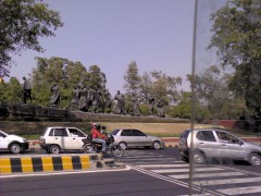 A set of eleven statues erected near India Gate, New Delhi to pay tribute to a group Indian freedom fighters and social reformers