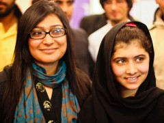 I (left) and Malala (right) during one of the TBTT sessions