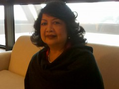 Irene Natividad at GES   Photo taken by the author