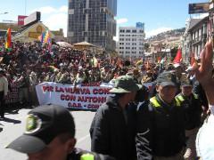 Marcha por el centro de La Paz, Bolivia