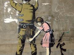 Graffitti by Banksy. Image: Pawel Ryszawa (CC-by-SA 3.0)