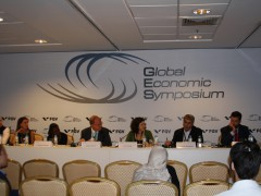"""The Roundtable: """"Global Economic Fellows' Projects on Education, Innovation and Media"""". Photo by the author"""