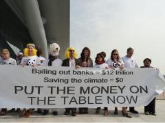 WWF COP18 Action for Finance. Photo: Nathalia Clark