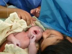 Parto de Clara Beatriz, en el Hospital Ginecológico.
