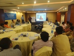 Workshop on gender sensitive reporting and labour laws, in Sialkot Pakistan