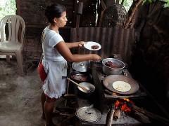 Cocina rural en Nicaragua