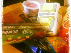 Box of Traditional Costa Rican food items