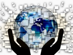 Globalization and Internet: Information, Humans and Goods