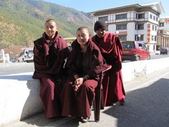 Young buddhists in THimpu