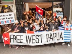 Free West Papua protestors