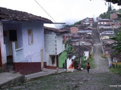 Rural road in Tamesis Antioquia