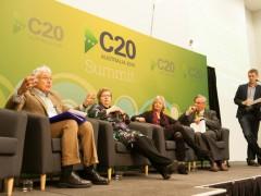 Discussions at C20 Summit, in Melbourne, Australia, photo by C20 Australian Secretariat, on Flickr, June 2014